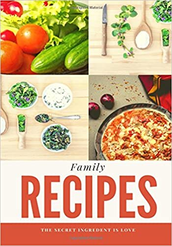 Family Recipes: Tan, Blank Cookbook, Recipe Binder, Cooking Journal, Recipe Notebook