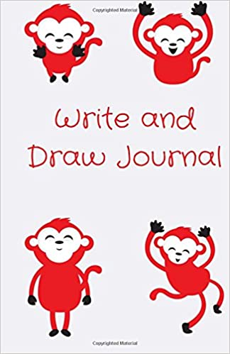 Write and Draw Journal: Funny Monkey, Drawing Journal or Daily Diary, for Adults, Teens or Kids, Blank Pages, Softcover