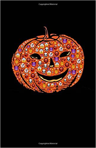 Pumpkin Notebook: Halloween Emoji, Drawing Journal or Daily Diary, for Adults, Teens or Kids, Blank Pages, Softcover