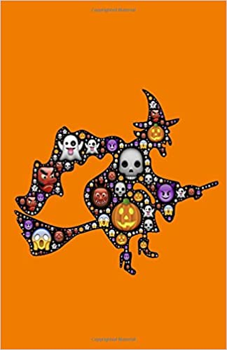 Witch Emoji Notebook: Halloween Emoji, Drawing Journal or Daily Diary, for Adults, Teens or Kids, Blank Pages, Softcover