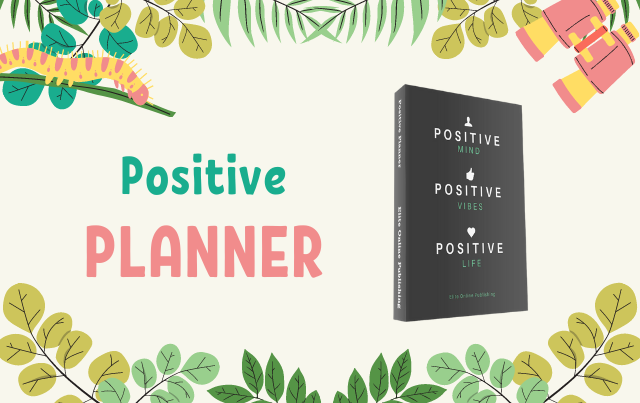 Positive Daily Planner & Blank Journal