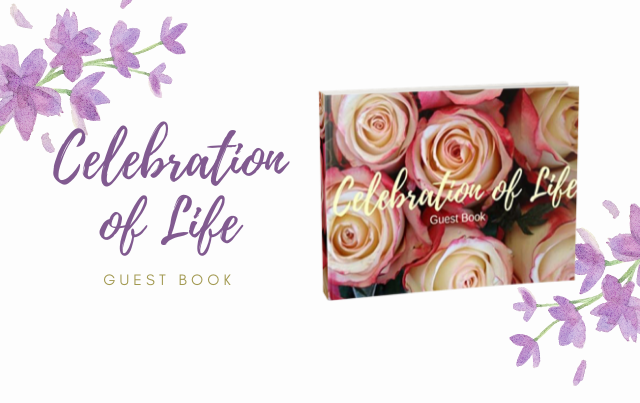 Celebration of Life: Guest Book, Roses, Memorial Guest Book